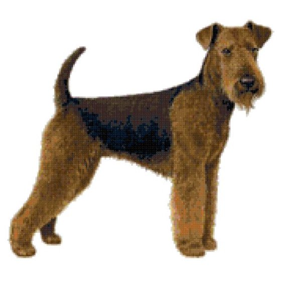 Airedale Terrier Dog Counted Cross Stitch Pattern Walmartcom