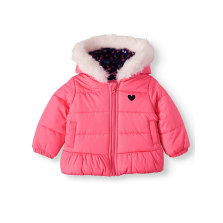 Child of Mine by Carter's Baby Toddler Girl Faux Fur Hooded Bubble Jacket Winter Coat Toddler Jackets Shop