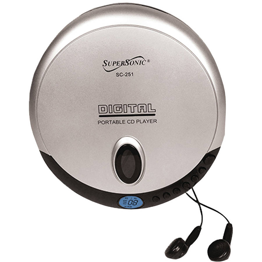 Small Cd Player For Bedroom Supersonic Sc 251 Personal Cd Player Walmartcom