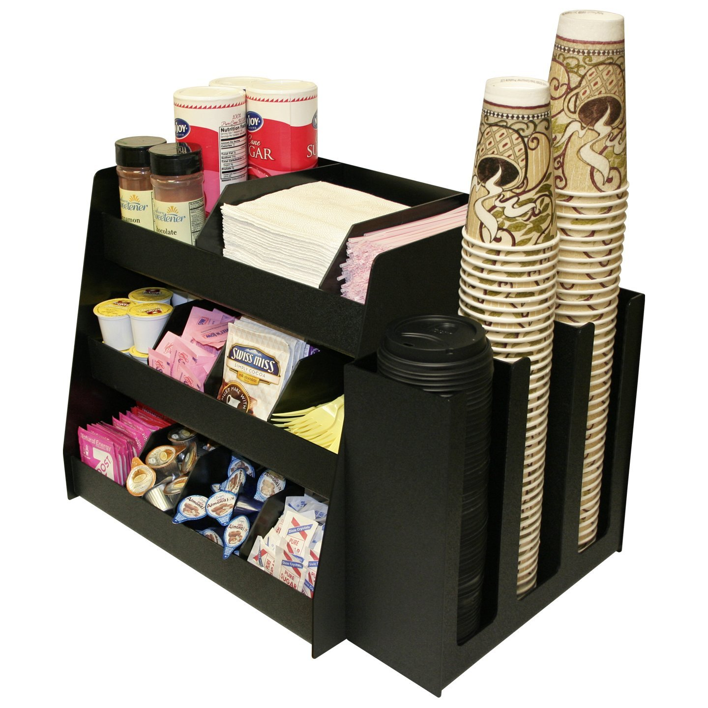 Condiment Organizer and Cup and Lid Holder Dispenser Combo (2 Separate units sold together.) PC-1000 COMBO