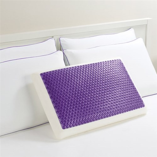 """Comfort Revolution Purple Bubbles Gel Pillow 215-0A Bubble Gel Bed Pillow"""