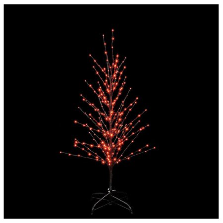 Santa's Best 9418007BK-15TAC Halloween Lighted Twig Tree, Orange