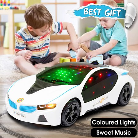 LED Light Car Toys Electronics Flashing Lights Music Sound Car Play Vehicles Toys For Boys, Kids Gift - 3 to 12 Years (Size:7.87x3.54x1.97 - 3 Yr Old Boy Toys