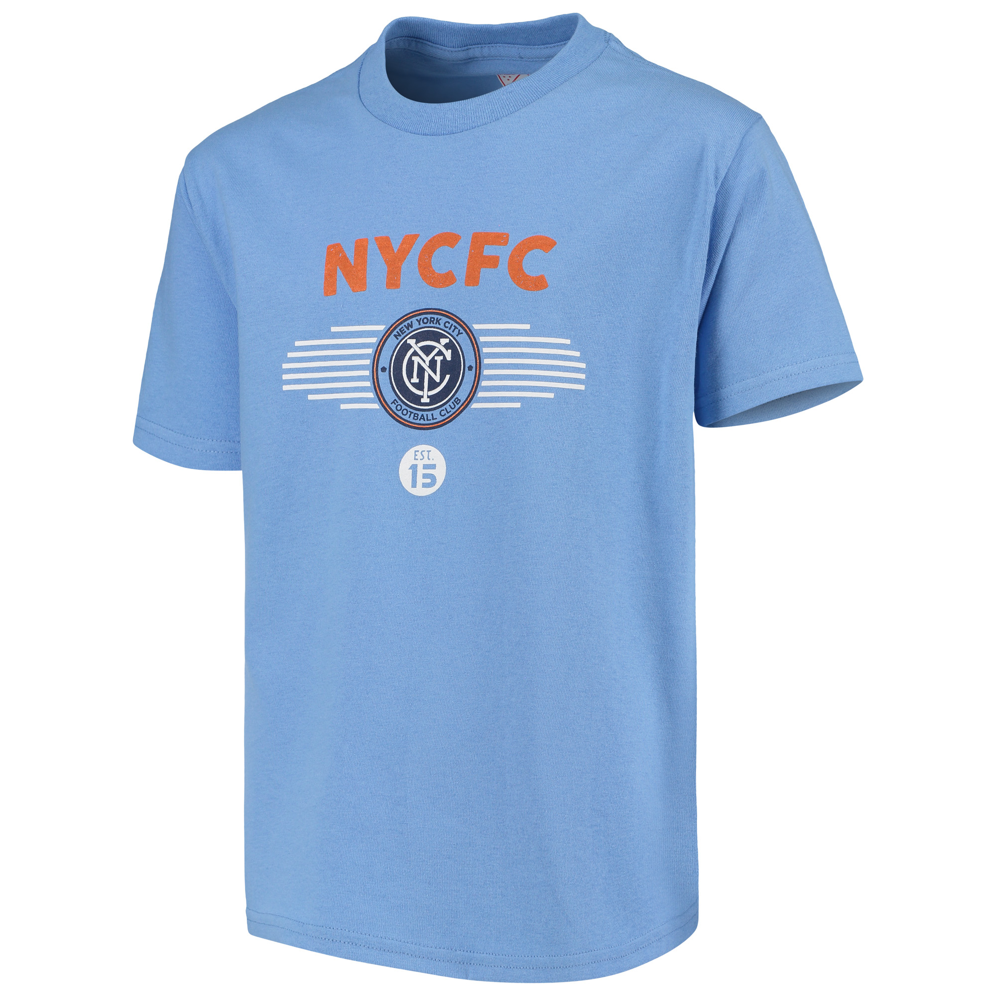 Youth Majestic Light Blue New York City FC Stunning Performance T-Shirt