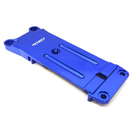 Rear Tie Bar - Integy RC Toy Model Hop-ups C26950BLUE Billet Machined Rear Chassis Brace Tie Bar Mount for Traxxas X-Maxx 4X4