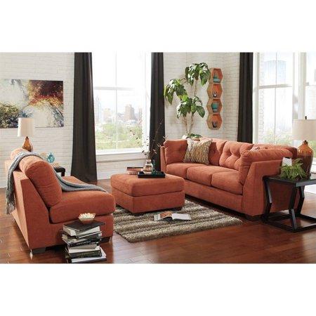 Ashley Delta City 3 Piece Sofa Set In Rust