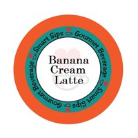 Smart Sips Coffee Banana Cream Latte Single Serve Cups, 24 Count, Compatible With All Keurig K-cup Machines