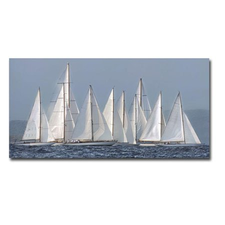 Sailing Team by Xavier Ortega Premium Gallery-Wrapped Canvas Giclee Art - Ready to Hang, 12 x 24 x 1.5 in. - image 1 of 1