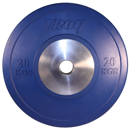 Troy Barbell 20kg Blue Competition Bumper Plate