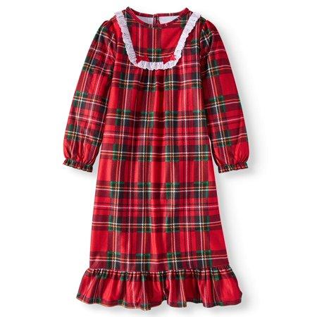 Komar Kids Girls' Holiday Plaid Sleep Gown (Little Girls & Big Girls)