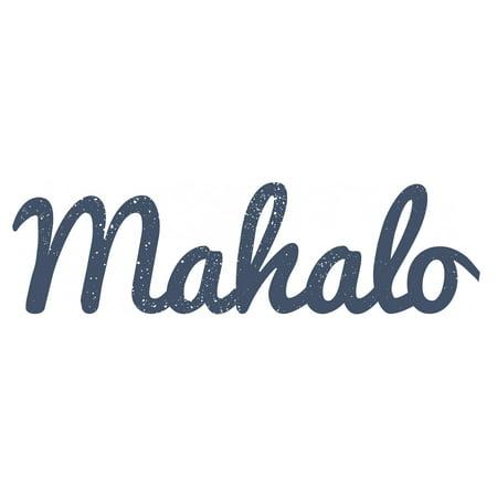 Mahalo Distressed & Painted Cutout Vintage Ready To Hang Wall Monogram Home Decor (Aluminum)