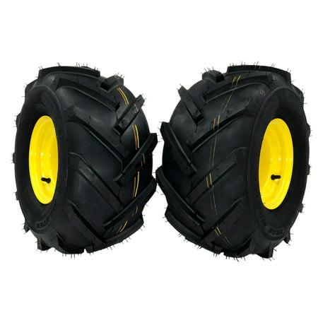 (2) John Deere Wheel Assemblies 20x10.00-8 Yellow Replaces GY20637 GX10364 Bio Wheel Pro Assembly