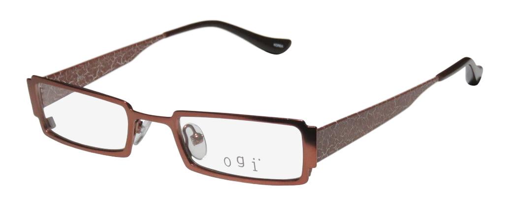 Ogi 2201 Mens//Womens Rectangular Full-rim Highest Quality Hip Elegant Optical Eyeglasses//Eye Glasses
