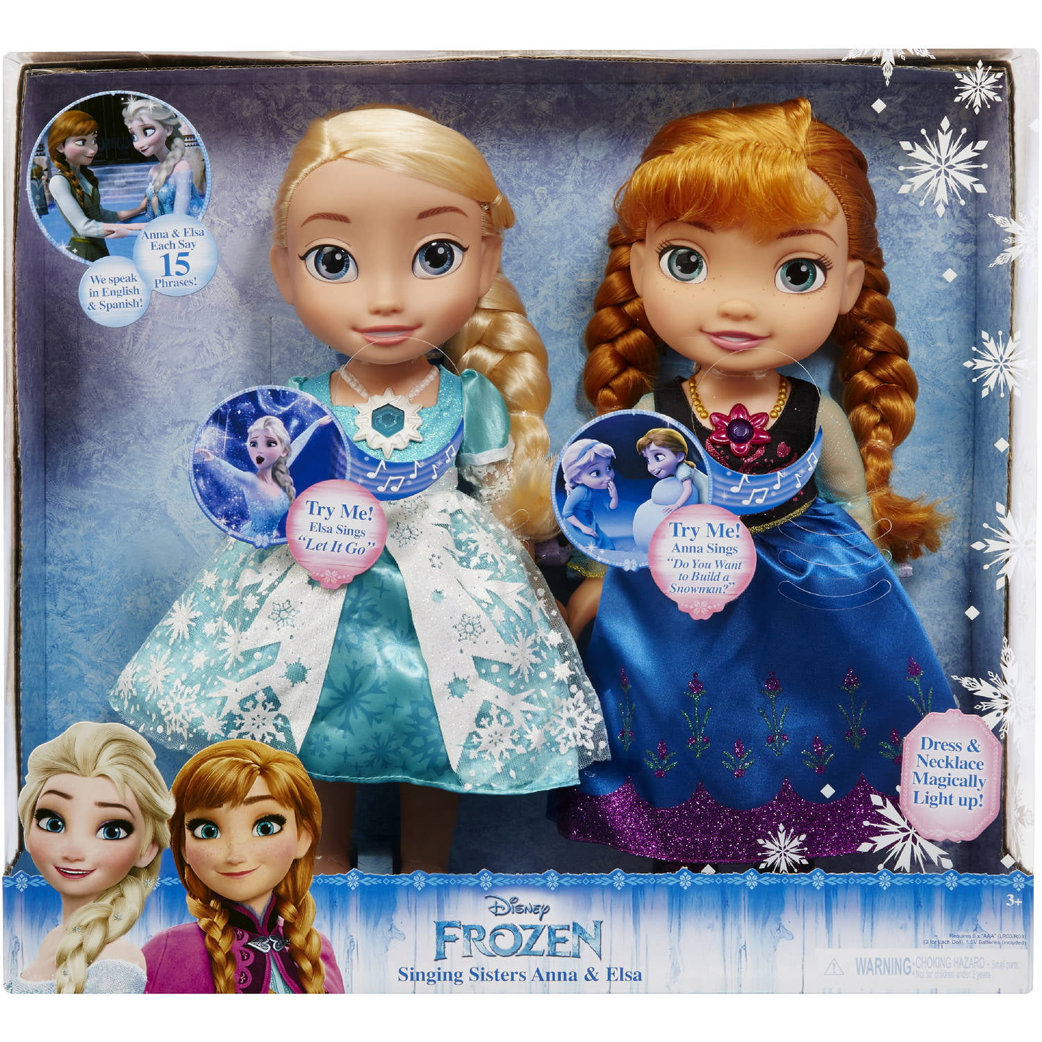 Disney Frozen Singing Sisters Elsa and Anna Dolls (Exclusive) by Jakks Pacific
