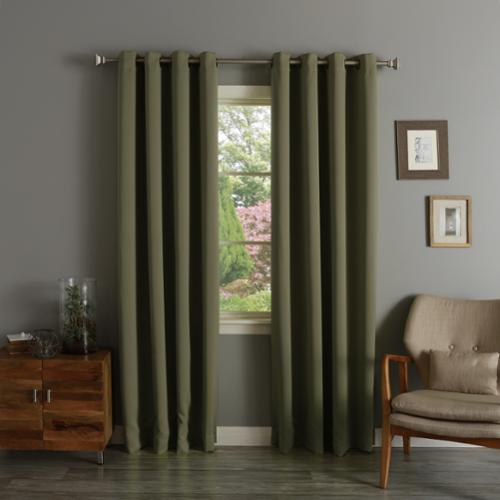 Aurora Home  Thermal Insulated Blackout 90-inch Grommet Top Curtain Panel Pair