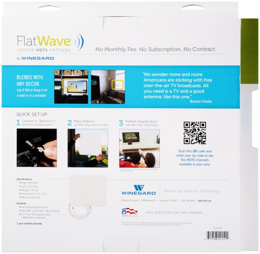 FlatWave(R) Indoor HDTV Antenna - Walmart.com