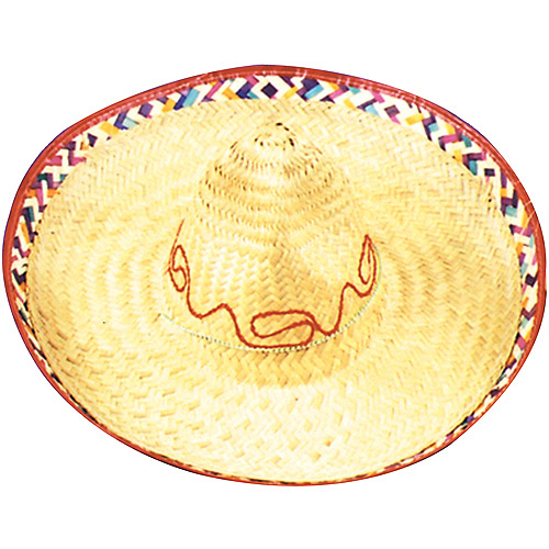 Straw Sombrero Adult Halloween Accessory