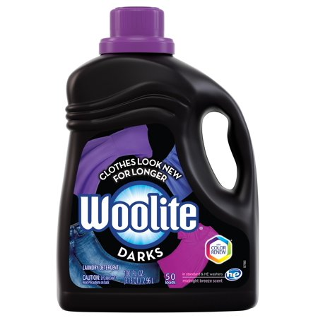 Woolite DARKS Liquid Laundry Detergent, 100oz Bottle, With Color Renew, HE & Regular Washers