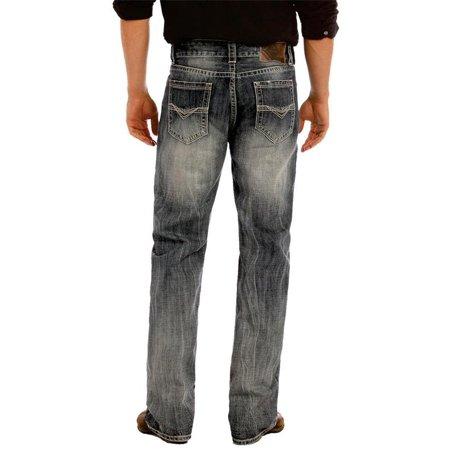 Rock & Roll Cowboy Mens Medium Wash Double Barrel Jeans