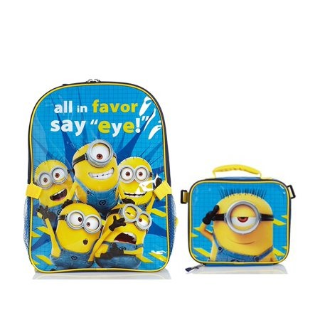 d4d0b06e4b20 Despicable Me Minions Backpack with Detachable Insulated Lunch Box