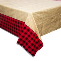 Buffalo Plaid Lumberjack Plastic Party Tablecloth, 84 x 54in