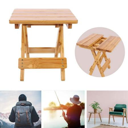 Ejoyous Bambou pliant tabouret Portable ménage réel en bois chaise de pêche extérieure pliable petite chaise, tabouret pliable, tabouret en bambou - image 2 de 6