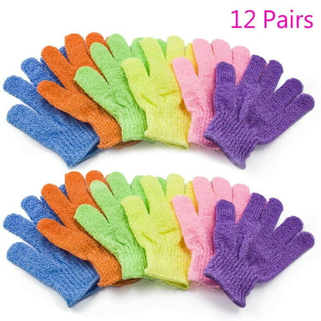 3/6/12 Pairs Magik Exfoliating Spa Bath Gloves Shower Soap Clean Hygiene Wholesale Lots (12 Pairs)