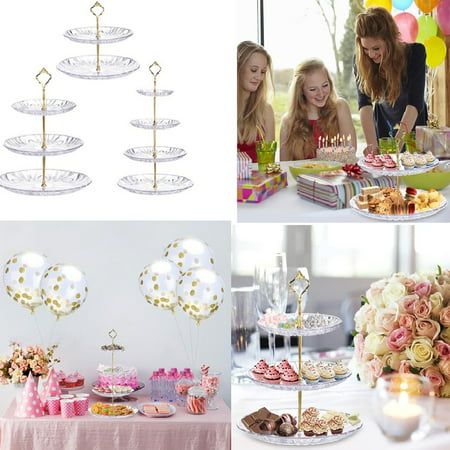 2/3/4Tier Round Stacked Fruit Plate Cupcake Display Tray Cake Platter Food Stand Rack](Thanksgiving Fruit Platter Ideas)