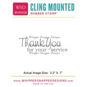 "Whipper Snapper Cling Stamp 2.5""X3.5""-Service Thank You"