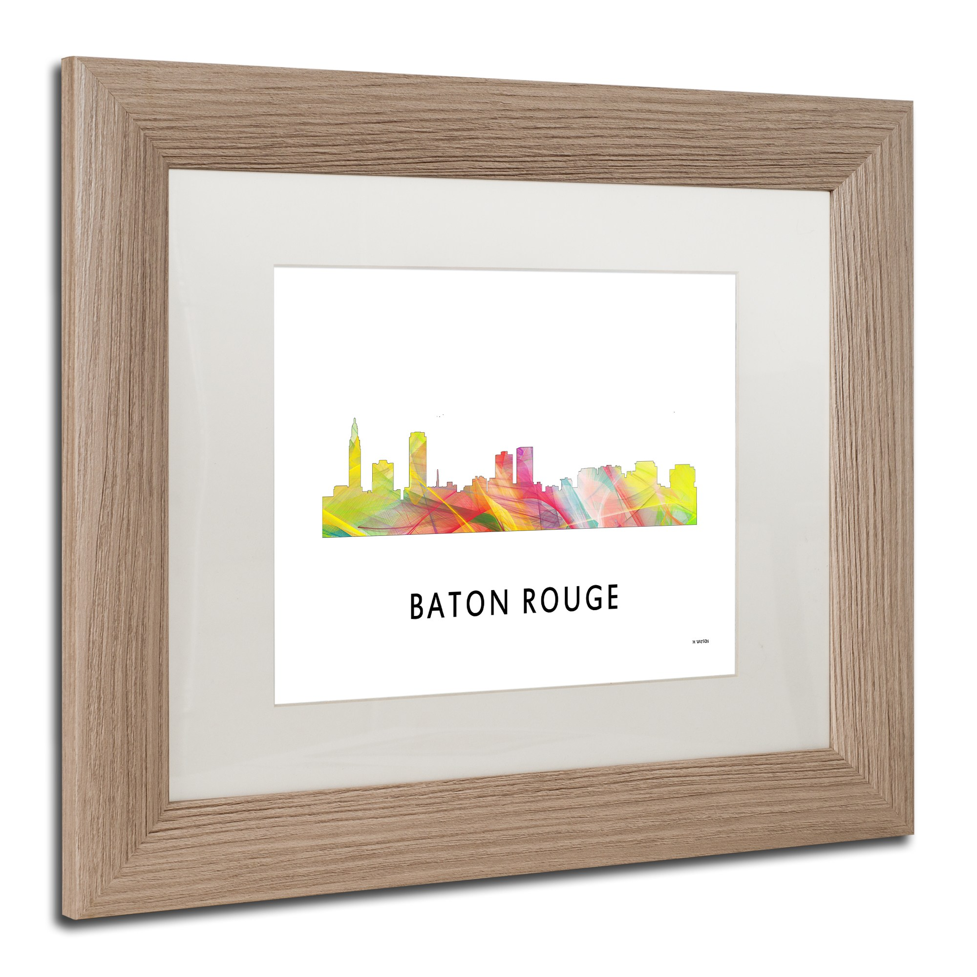 Trademark Fine Art \'Baton Rouge Louisiana Skyline WB-1\' Canvas Art ...