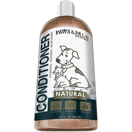 Paws & Pals Paws & Pals Natural Pet Conditioner with Shea Butter, Aloe Vera and Rosemary - 20oz Medicated Clinical Vet Formula Wash for All Puppy & Cats