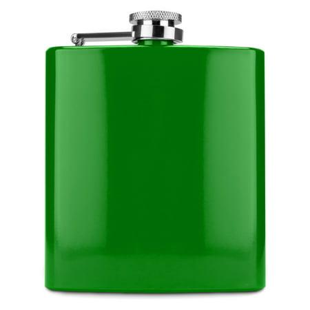 Spectrum Glossy Green 6 Ounce Flask by True Baseball 6 Ounce Flask