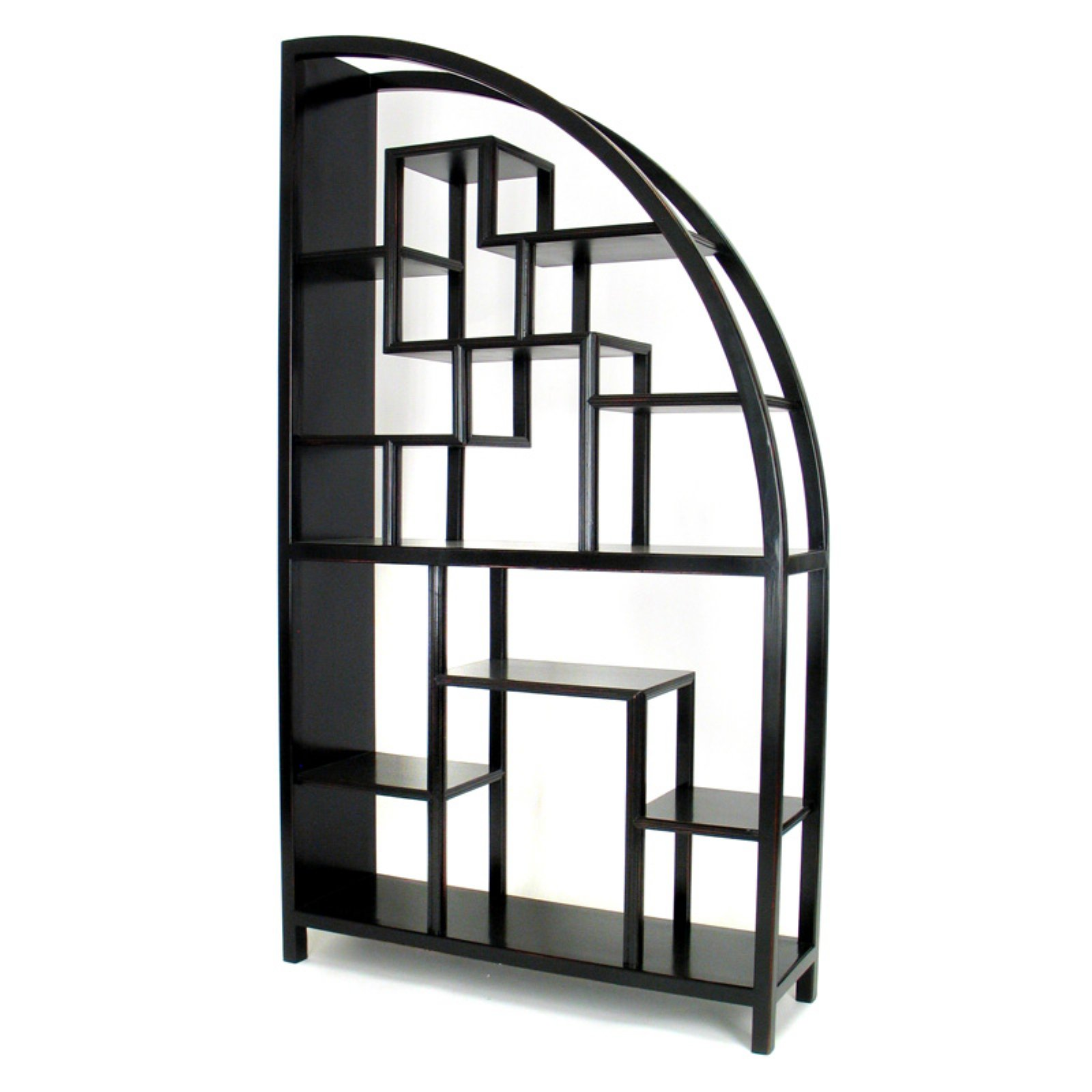Wayborn Hangchu Display Bookcase Room Divider Black Walmartcom