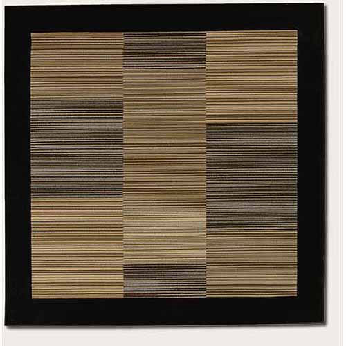 Couristan Everest Hamptons Rug, Multi-Colored Stripe/Black