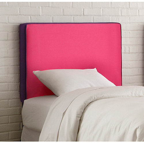 Skyline Furniture Upholstered Headboard, Twin, Fr. Pink/Purple
