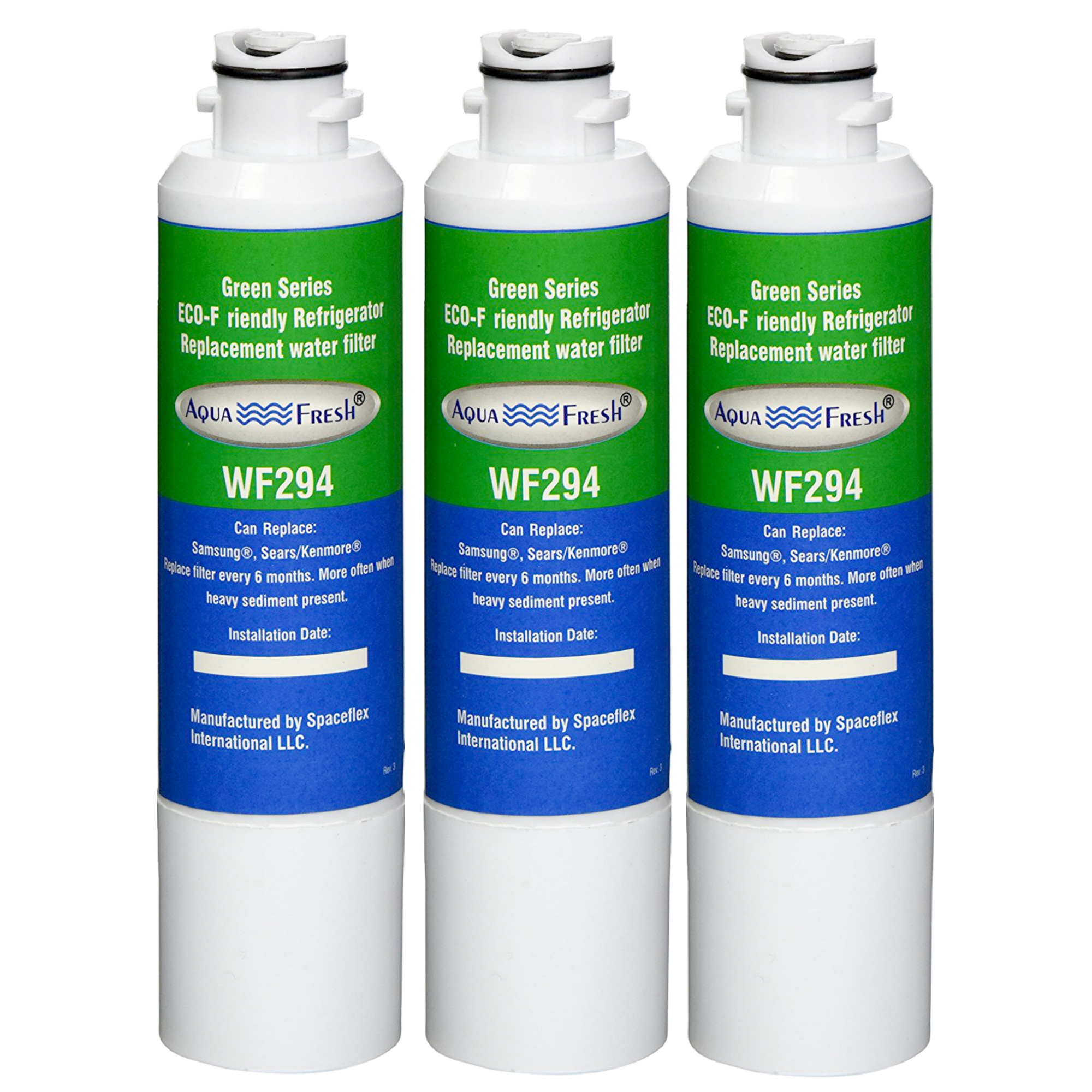 Replacement Water Filter For Samsung WF-DA29-00020B Refrigerator Water Filter by Aqua Fresh (3 Pack)