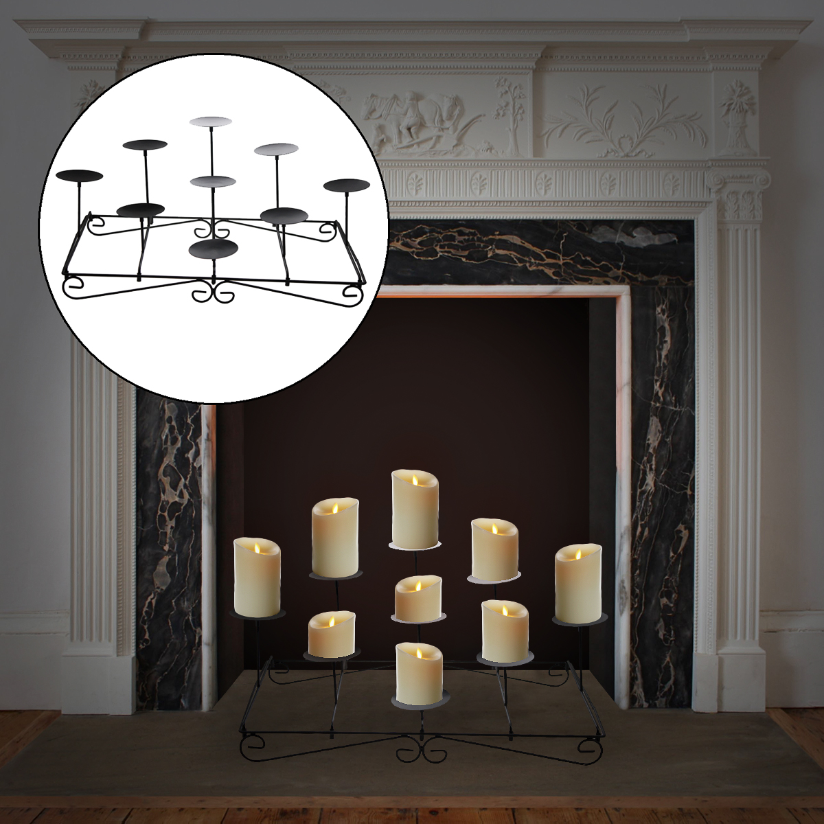 fireplace candle holder 9 pillar fireplace candle holder mantel floor tier 29716