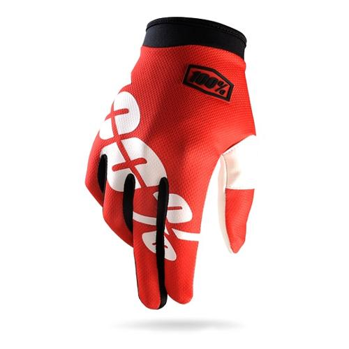 100% I-Track MX/Offroad Gloves Fire Red LG