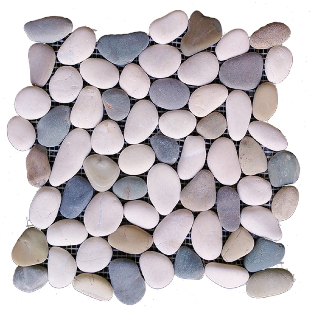 """Rainforest Blended Natural Pebble Floor and Wall Tile 12"""" x 12"""" (5.0 sq. ft. / case)"""