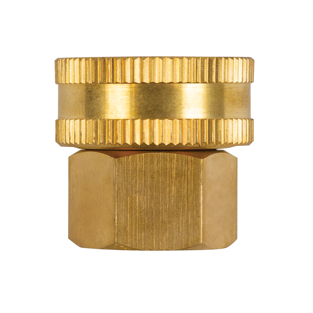 """Nelson Brass Double Female Pipe to Hose Connector Fitting - 3/4"""" NPT X 3/4"""" Garden Hoses Coupler"""