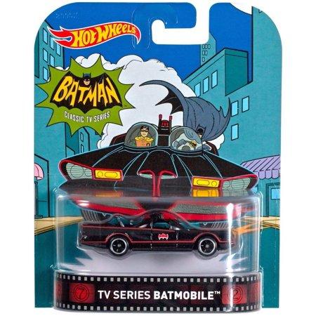 Batman Classic TV Series Batmobile Hot Wheels Retro Diecast Car 1:64 Scale