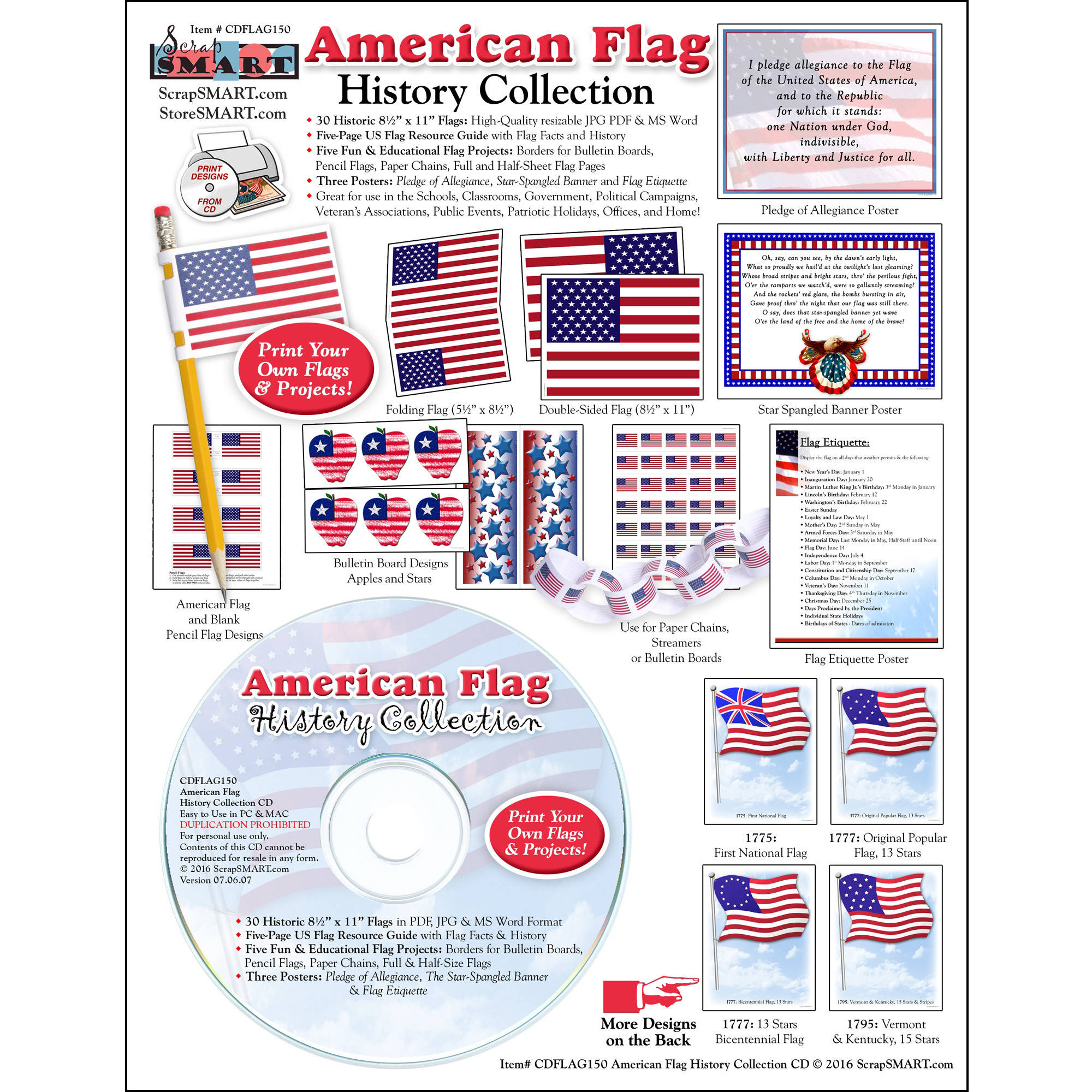 Free clip art on history collection cliparts for The american flag history