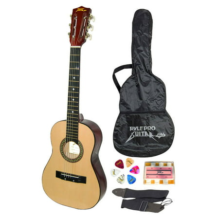 Pyle PGAKT30 - Beginners 6-String Acoustic Guitar, Includes Accessory (Jackson Guitar Accessories)