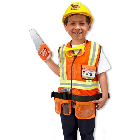 Childs Construction Worker Costume - Kid Dog Costume