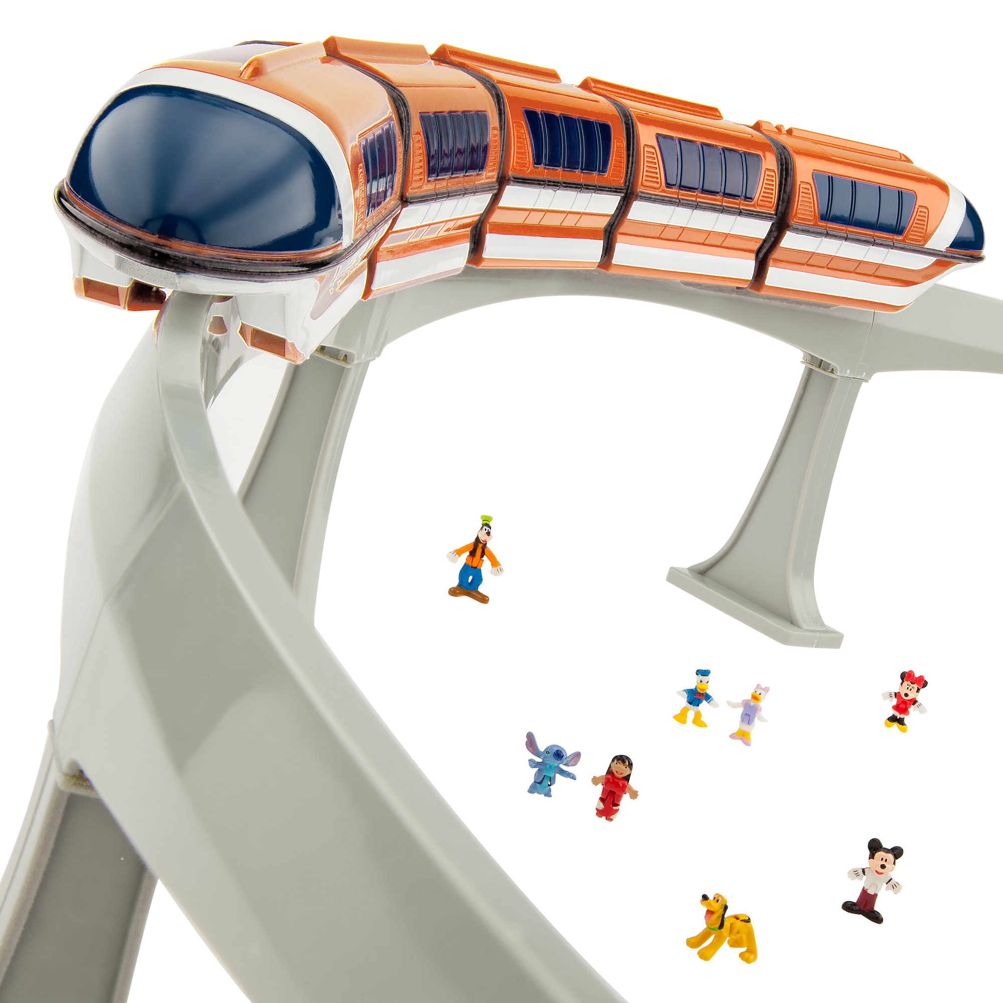 Monorail Train Track Playset (Orange) Walt Disney World Spaceship Earth Figure Light & Sound Toy Vehicle... by