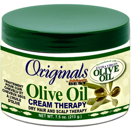 HC Industries Africas Best Organics Olive Oil Dry Hair and Scalp Therapy, 7.5