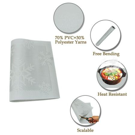 Placemats PVC Heat-resistant Non-slip Insulation Washable Table Mats 4pcs #19 - image 3 of 8