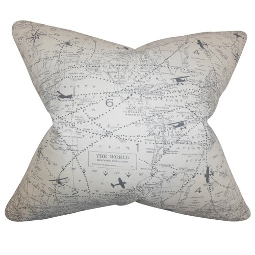 The Pillow Collection Caily Typography Cotton Throw Pillow
