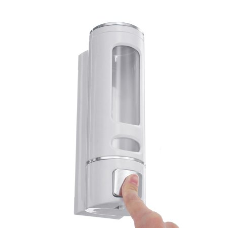 400ml Wall Mounted Soap Sanitizer Bathroom Shower Shampoo Dispenser Lotion Pump Action For Hotel And Home - image 1 de 7