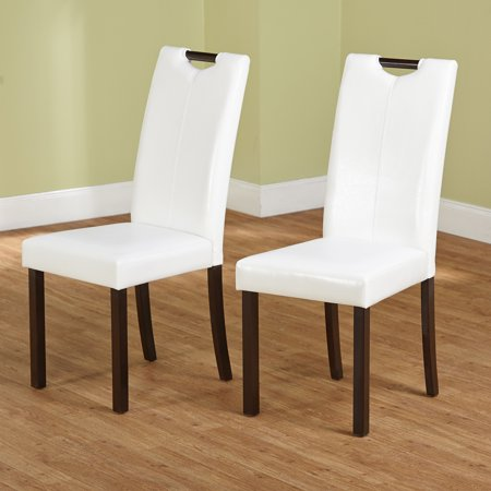 Tilo Dining Chair Set Of 2 White Walmart Com